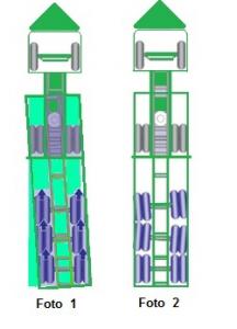Afbeelding met uitleg over het uitlijnen van banden aan een trailer